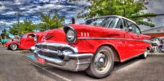 Amerikansk 50-tal Chevy för tappning Arkivbild