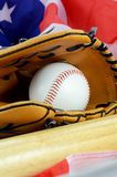 Amerikansk tidsf?rdriv f?r baseball royaltyfria bilder