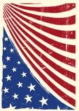 Amerikansk trevlig grungeflagga Arkivfoton