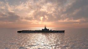 Amerikansk ubåt av världskrig II Arkivfoton