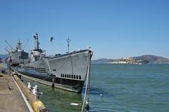 Amerikansk ubåt i San Francisco Royaltyfri Bild