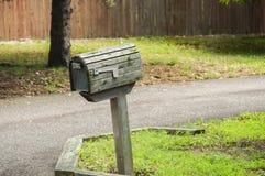 Amerikansk utomhus- brevlåda Arkivfoto