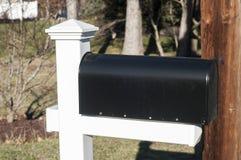 Amerikansk utomhus- metallbrevlåda Arkivbild