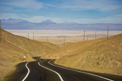 amerikansk väg för chile huvudvägpanna Arkivbilder