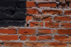 amerikansk vägg för tegelstenflaggared Arkivbild