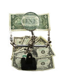 amerikansk valuta som undersöker Royaltyfri Foto