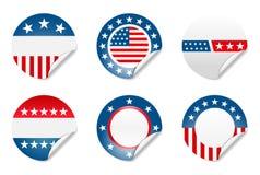 amerikanska aktionvaletiketter Arkivbilder