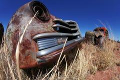 amerikanska antika bilar arkivfoto