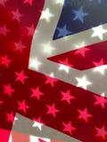 amerikanska brittiska flaggor Fotografering för Bildbyråer