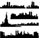 amerikanska byggnader Fotografering för Bildbyråer