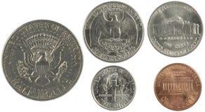 amerikanska cents royaltyfria bilder