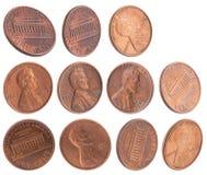 amerikanska cents arkivfoton