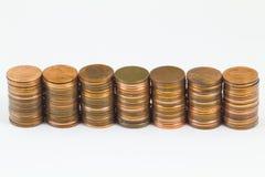 amerikanska cents sju buntar royaltyfria bilder