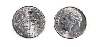 amerikanska cents tio arkivbild