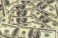 amerikanska dollar Arkivbild
