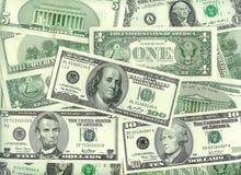 amerikanska dollar Fotografering för Bildbyråer