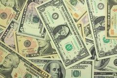 Amerikanska dollar bakgrund Arkivfoton