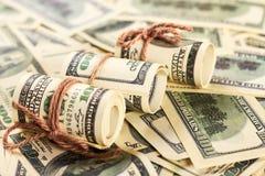 Amerikanska dollar i rullar Royaltyfri Fotografi