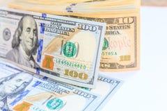 Amerikanska dollar kassapengar Arkivbilder