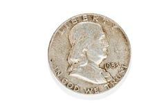 Amerikanska dollar, mynt Fotografering för Bildbyråer