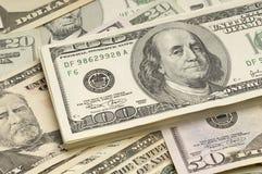 Amerikanska dollarräkningar Arkivfoton