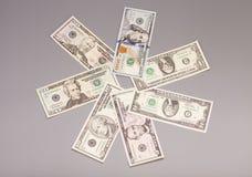 Amerikanska dollarräkningar för pengar Royaltyfria Bilder