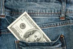 Amerikanska dollarräkningar i fack Arkivbilder