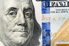 Amerikanska dollarsedlar f?r n?rbild royaltyfri bild