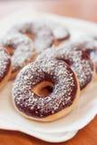 Amerikanska donuts Arkivfoto