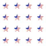 Amerikanska flaggan är USA-självständighetsdagen vektor illustrationer