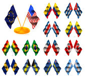 amerikanska flaggan 1 royaltyfri illustrationer