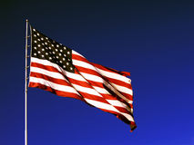 amerikanska flaggan arkivfoto