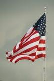 Amerikanska flaggan. Arkivfoto
