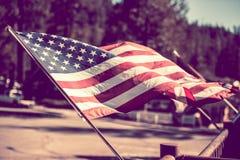 amerikanska flaggan Arkivbild