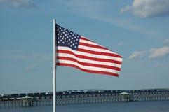 Amerikanska flaggan! Arkivfoto