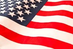 amerikanska flaggan close upp Amerikanska flagganbakgrund Begrepp av patriotism fotografering för bildbyråer