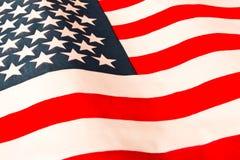 amerikanska flaggan close upp Amerikanska flagganbakgrund Begrepp av patriotism royaltyfria bilder