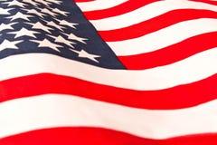 amerikanska flaggan close upp Amerikanska flagganbakgrund Begrepp av patriotism royaltyfri bild