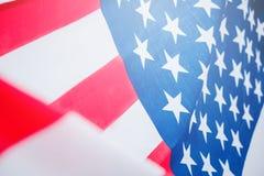 Amerikanska flaggan för minnes- självständighetsdagen 4th Juli Royaltyfria Foton