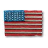 Amerikanska flaggan för självständighetsdagen Arkivfoto