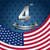 Amerikanska flaggan för självständighetsdagen av USA Arkivbild