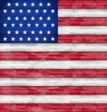 Amerikanska flaggan för självständighetsdagen, wood textur Arkivbilder