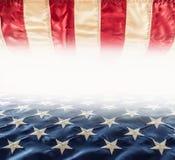 amerikanska flaggan flagga USA Abstrakt perspektivbakgrund av strien Royaltyfri Fotografi