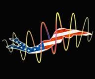 Amerikanska flaggan i dopp royaltyfri illustrationer