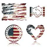 Amerikanska flaggan illustration 3D Arkivfoton