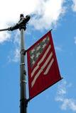 Amerikanska flaggan Juli 4th gatatecken Royaltyfri Fotografi