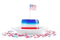 Amerikanska flaggan och gelé arkivfoto