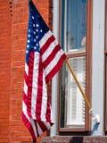 Amerikanska flaggan och patriotism Arkivbilder