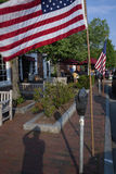 Amerikanska flaggan på minnesdagen Arkivbilder