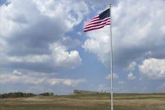 Amerikanska flaggan på minnesmärken för flyg 93 Royaltyfri Fotografi